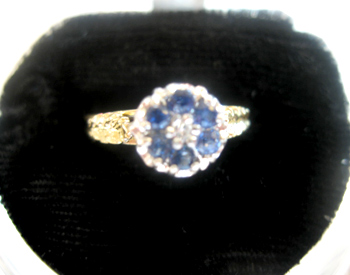Antique Blue Stone Ring